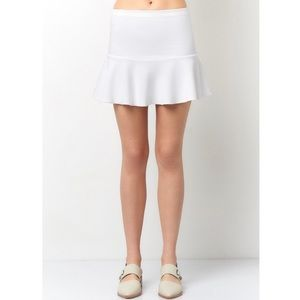 Dresses & Skirts - White ruffle mini skirt